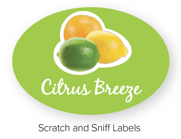 Scratch and Sniff Labels