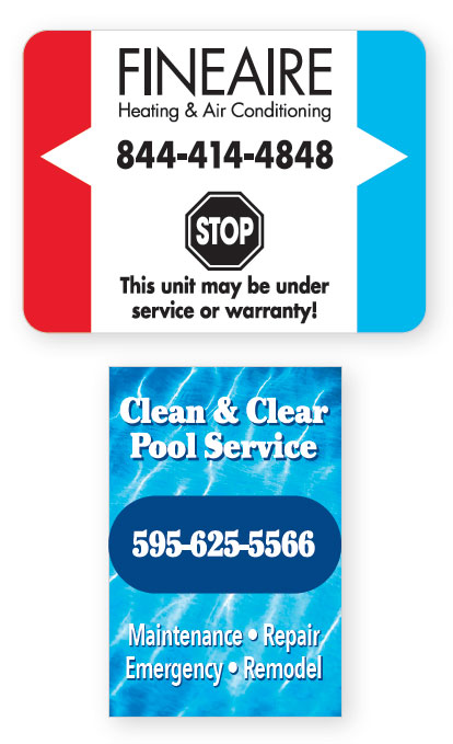 Outdoor Weather Resistant Labels